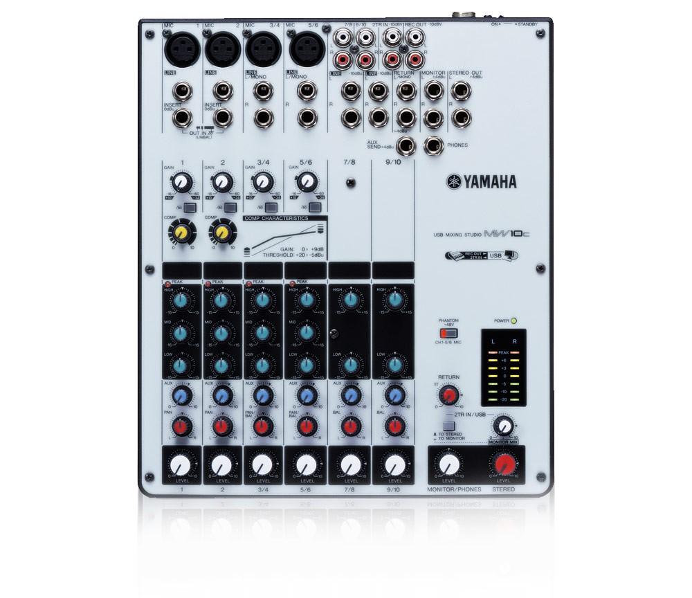 Yamaha MW10C 10 Channel USB Mixer with Compressor
